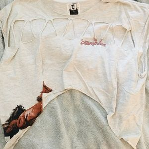 LF Cropped Cut Out Horse Tee (Size XS)